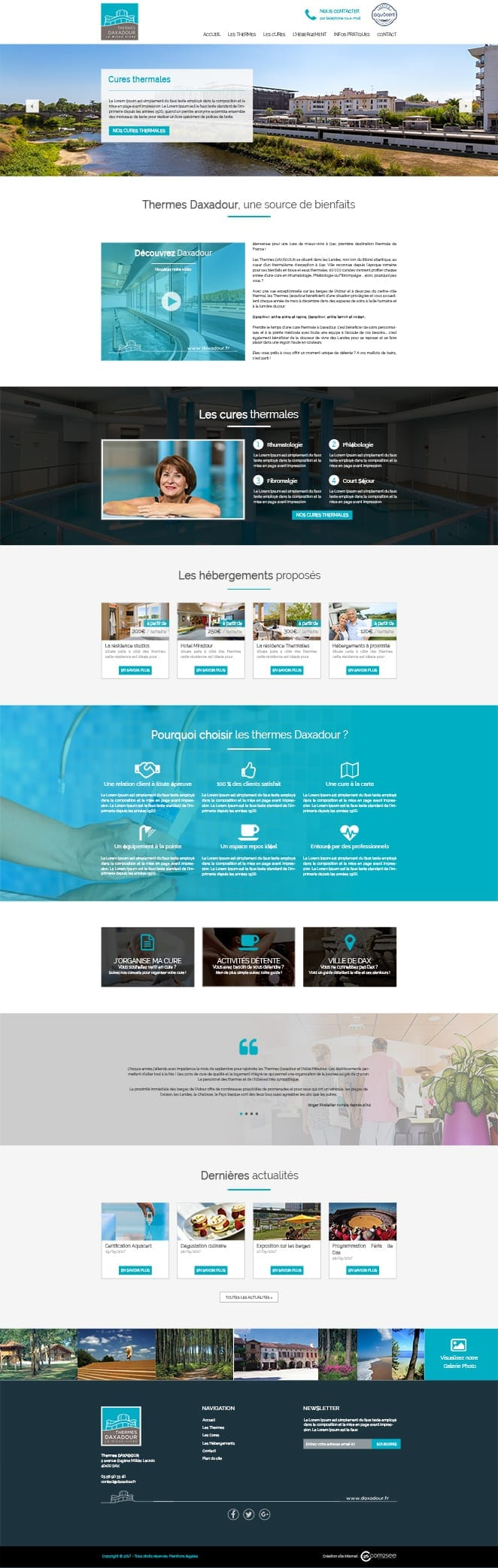 Site internet : Thermes Daxadour