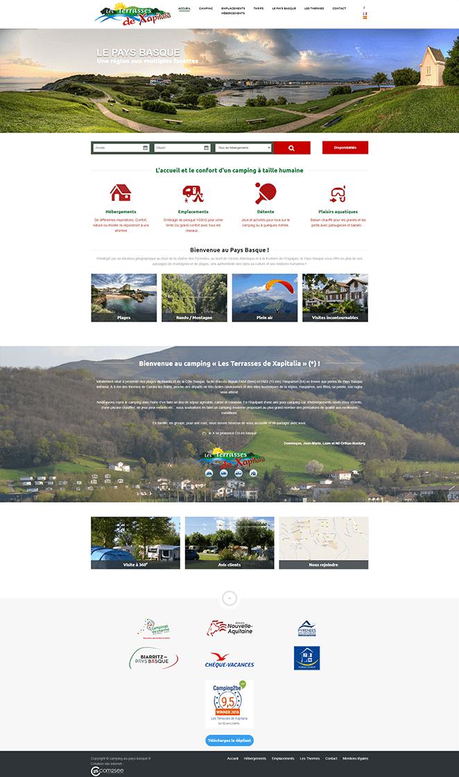 Site internet : Camping Xapitalia