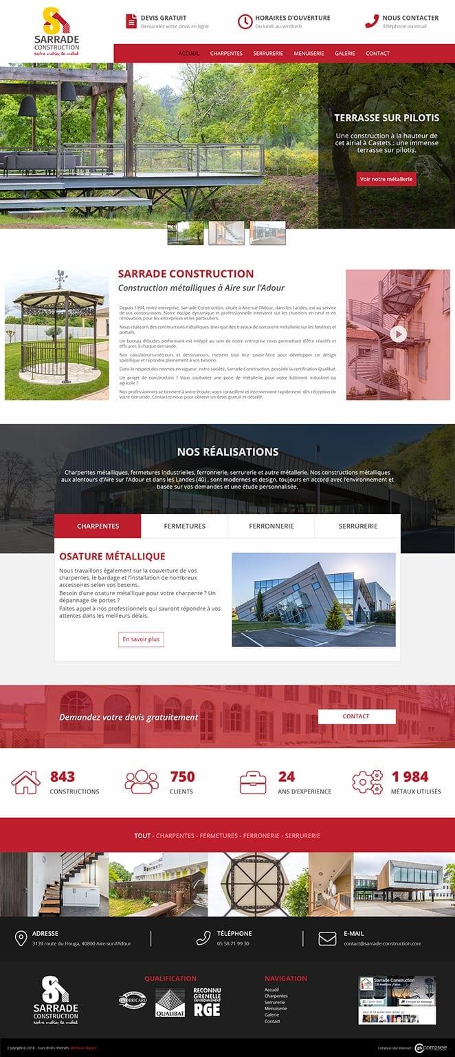 Site internet : Sarrade construction