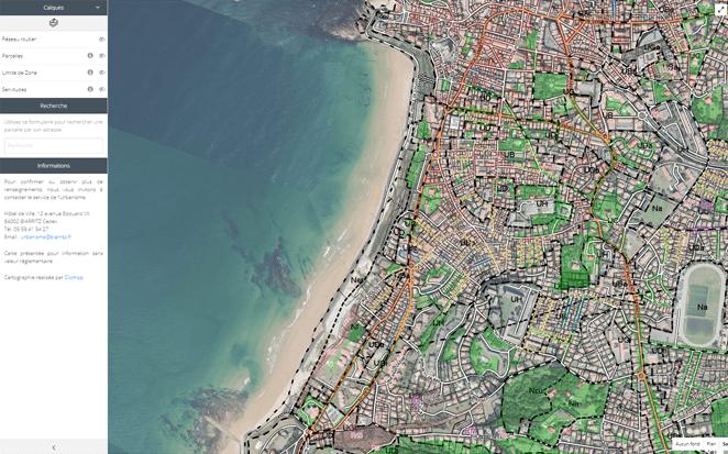 Application métier : Ville de Biarritz