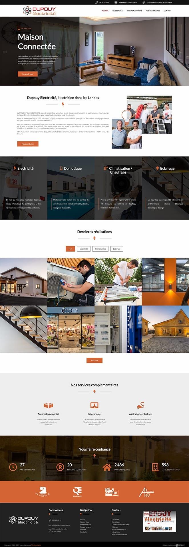 Site internet et Logo : Dupouy Electricité