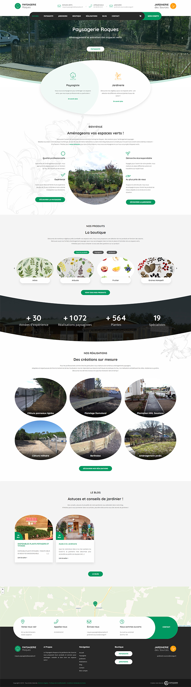 Site internet : Paysagiste – Jardinerie