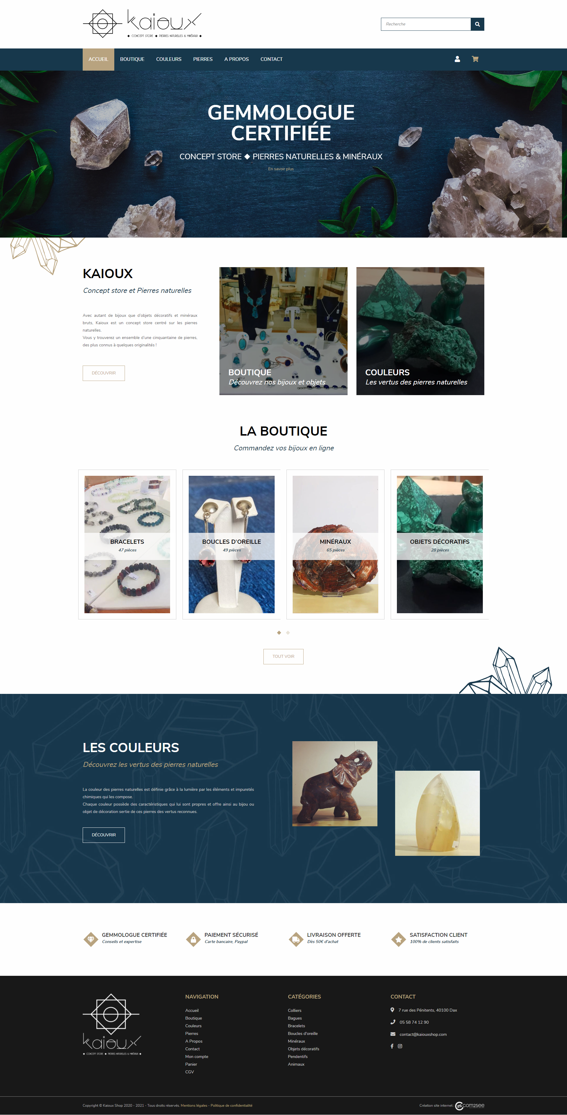 Site e-commerce : Concept store Kaioux